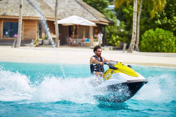 Mohamed Salah op zijn jetski.