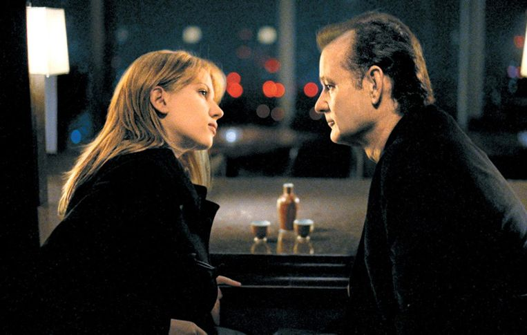 screenshot Lost in Translation met Scarlet Johansson en Bill Murray