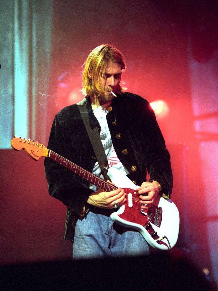 Een virtuele Kurt Cobain zou weleens kunnen herrijzen op het podium. Beeld FilmMagic, Inc