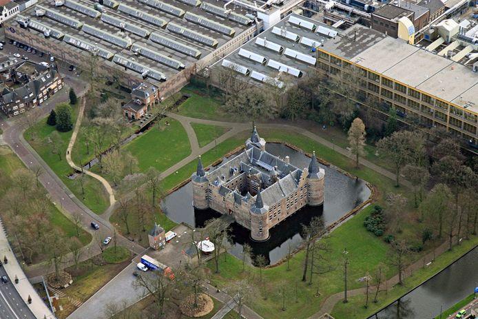 Kasteel Helmond vanuit de lucht, januari 2012.