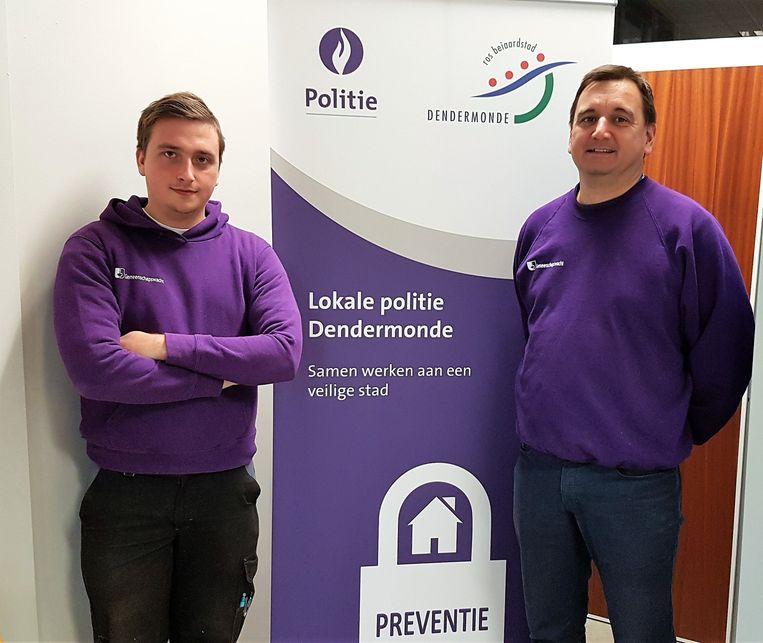 Sébastien en Yves trekken voortaan als gemeenschapswachten de straat op.