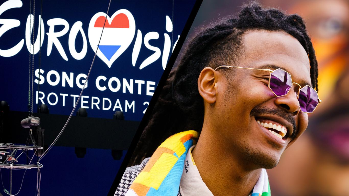 Jeangu Macrooy vertegenwoordigt Nederland op het Eurovisie Songfestival in Rotterdam