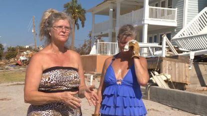 Bewoners keren terug naar hun verwoeste huizen na doortocht orkaan Michael
