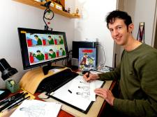 Hij werkt als receptionist én illustrator, maar Rutger (42) is vooral de dubbelganger van Lucky Luke