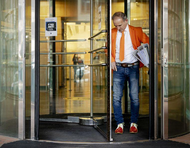 Johan Vlemmix van de Feestpartij bij de Kiesraad.  Beeld ANP