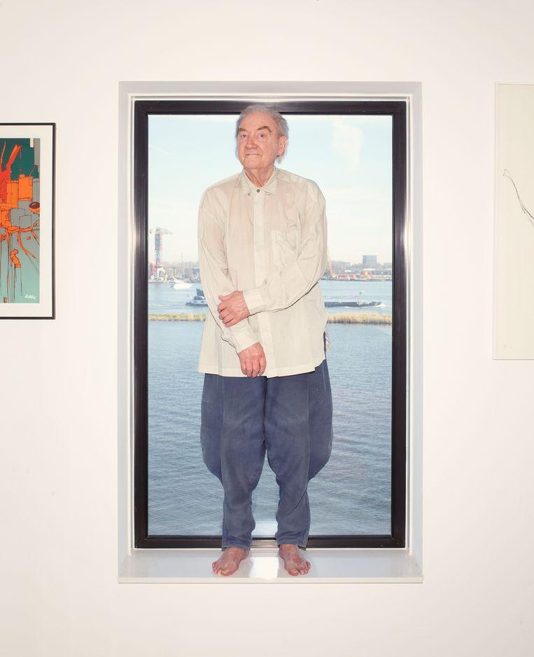 Jan Jansen in zijn Amsterdamse appartement. Beeld Daniel Cohen