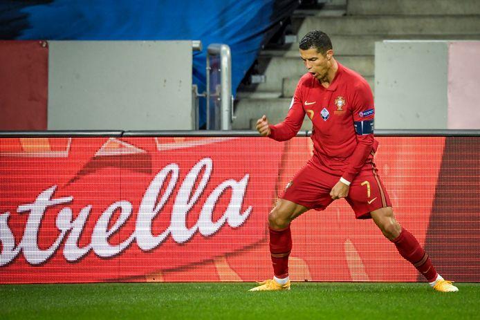 Cristiano Ronaldo n'est plus qu'à huit buts du record absolu de buts en sélection nationale.