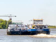 Brand op binnenvaartschip bij Schoonhoven