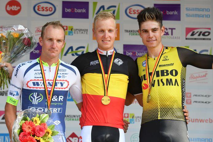 Timothy Dupont, Tim Merlier en Wout van Aert.