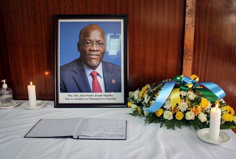 Ook in buurland Kenia wordt gerouwd om John Magufuli. Beeld AP