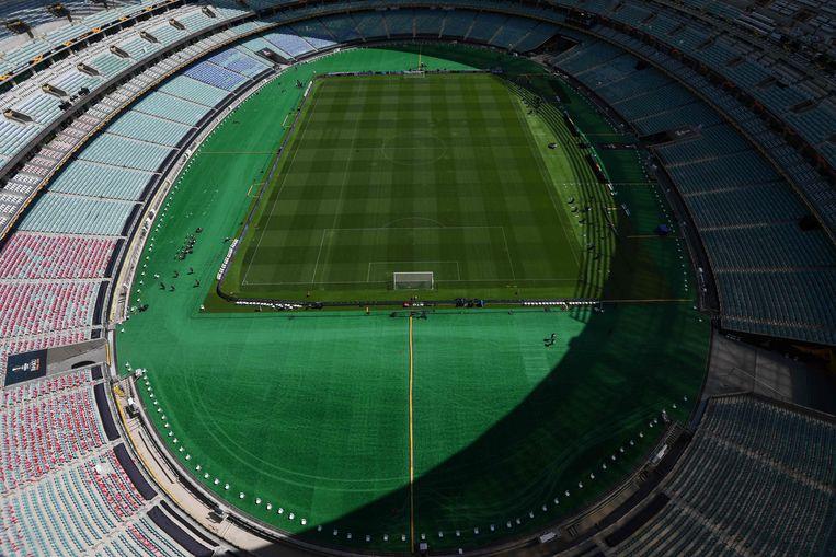 A view of the Baku Olympic Stadium in Baku on May 29, 2019. (Photo by Kirill KUDRYAVTSEV / AFP)
