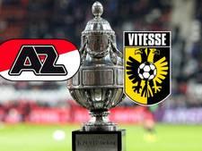 Duizenden fans van AZ en Vitesse in Rotterdam voor bekerfinale