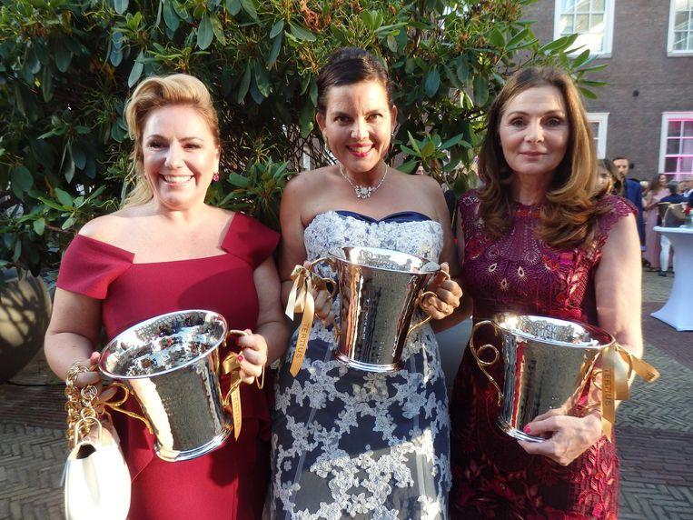 De eerste drie Leading Ladies: Jasja Heijboer (Ace Agency), Mascha Mooy (Bye Bye Burnout) en Hanneke Verburg (Make-A-Wish Nederland). Beeld Schuim