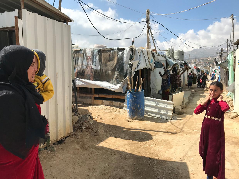 Het kamp in de buurt van Saadnayel in Libanon.  Beeld Ana van Es