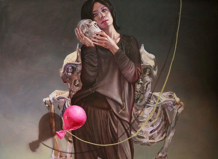 Zelfportret van de Syrische Sara Shamma.