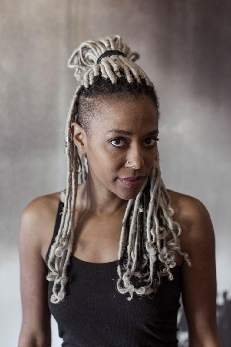 De jonge filmmaakster Nikki Love uit Californië in het museum van de zwarte burgerrechtenbeweging in Selma, Alabama. Beeld Jef Boes / Tim Coppens