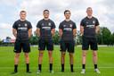 De vier aanwinst van GA Eagles (vlnr): Philippe Rommens, Ragnar Oratmangoen, Mats Deijl en Joris Kramer.