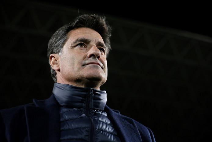 Malaga's coach Miguel Gonzalez.