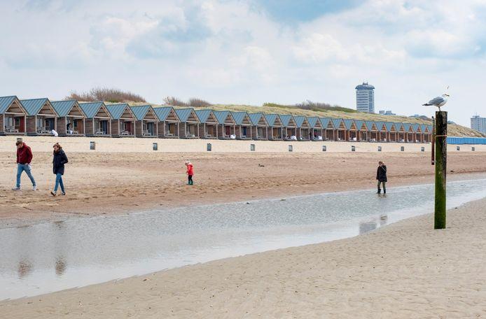 De strandhuisjes op het Nollestrand in Vlissingen.