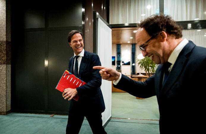 Premier Rutte en minister Koolmees (Sociale Zaken) hopen dat de FNV instemt met het pensioenakkoord.