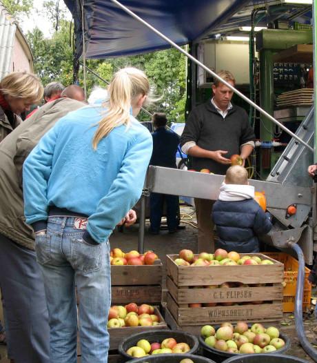 Appels persen in Herxen, en dan blijven eten