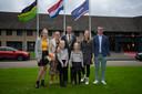 Cees van den Bos en zijn gezin, kort na zijn installatie als burgemeester.