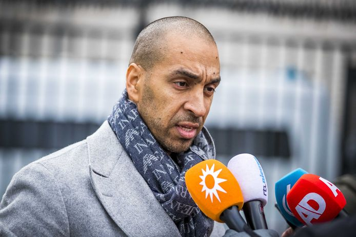 Advocaat Gerald Roethof bij de rechtbank van Maastricht voorafgaand een zitting tegen Jos Brech.