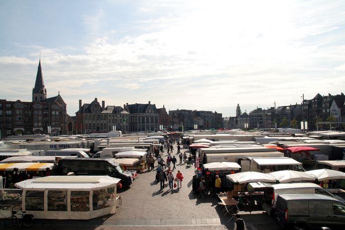 De markt van Sint-Niklaas