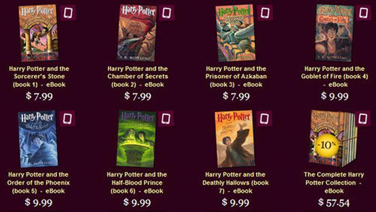 Ebooks van Harry Potter Beeld Pottermore