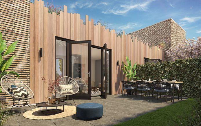 Een impressie van de Taaltuin, een project van NedBel uit Eindhoven en Van Boven Architecten uit Sint-Michielsgestel.