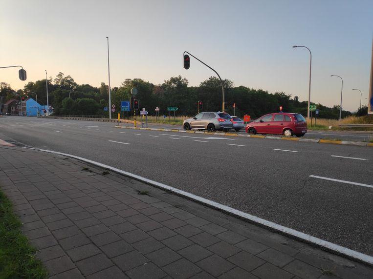 De Mechelsesteenweg in Herent.