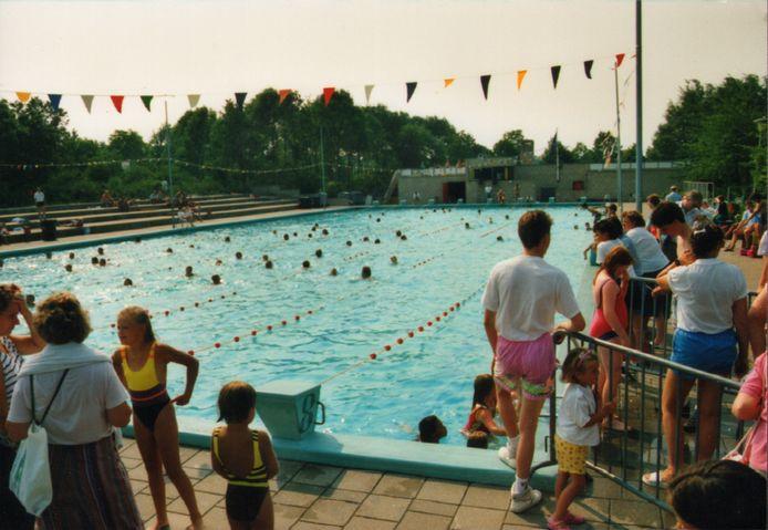 Het Keerpunt bij de zwemvierdaagse in 1989.