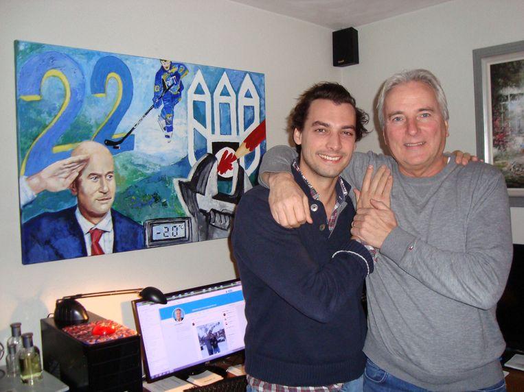 Thierry Baudet op bezoek bij Hans Smolders in Tilburg, december 2017. Beeld collectie hans smolders