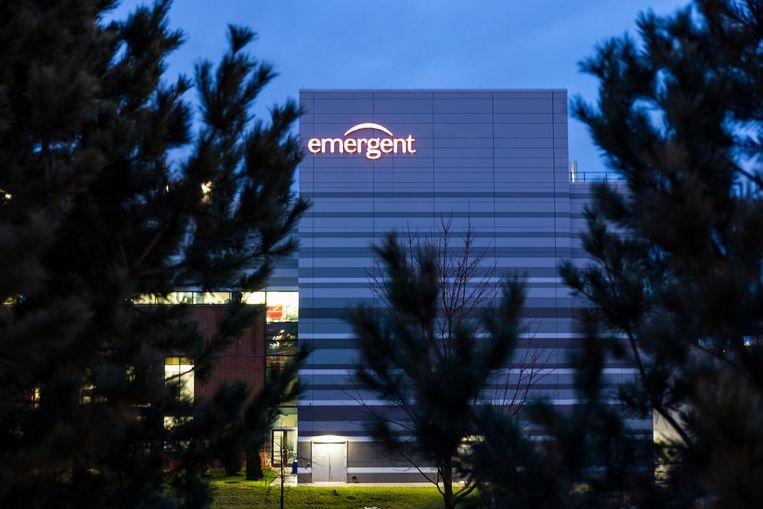 De fabriek van Emergent BioSolutions in Baltimore.  Beeld EPA