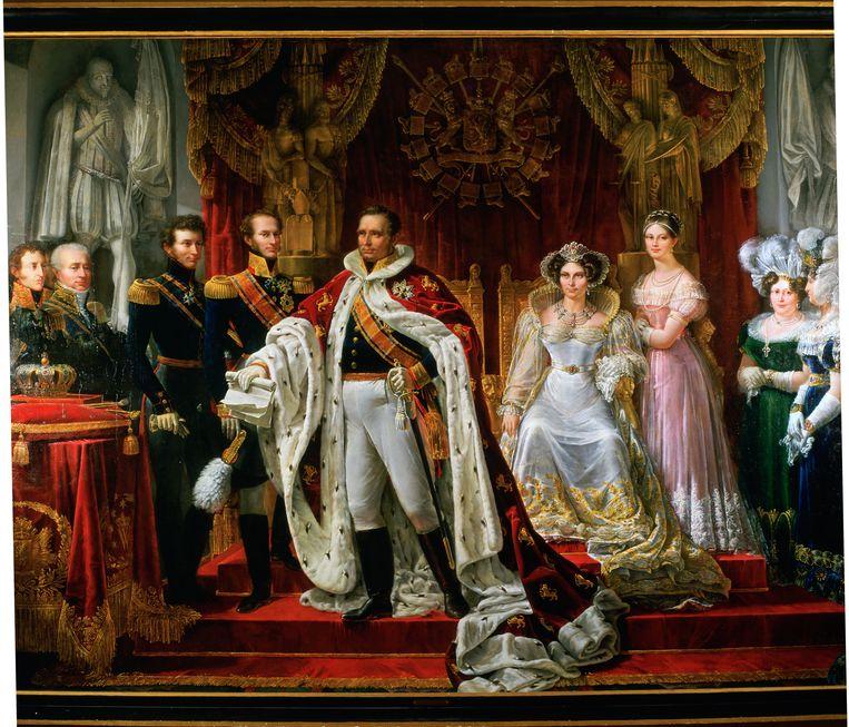 Een schilderij van Koning Willem I, geschilderd in 1819. Beeld ANP