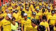VIDEO. 683 fietsers verpulveren in Gent wereldrecord 'meeste gele truien'