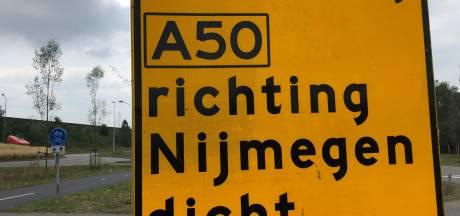 A50 week lang dicht, groot onderhoud kost 4,4 miljoen euro