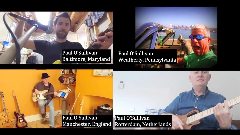 The Paul O'Sullivan Band is een internationale pop-band waarvan de leden alle vier dezelfde naam hebben. Beeld Het P