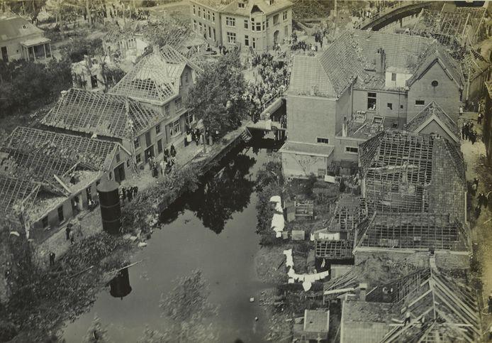 Borculo na de storm in 1925.