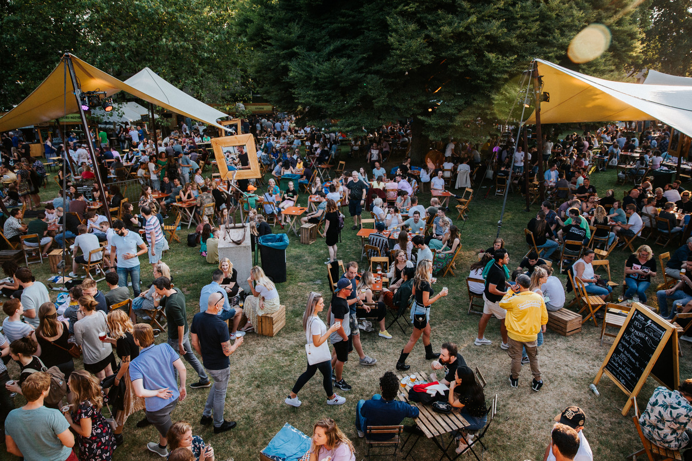 Bierfestival Mout in het Julianapark in Nijmegen in 2019.