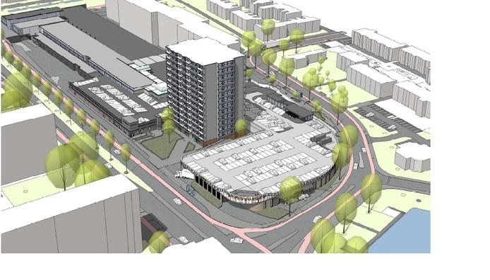 Een impressie van de uitbreiding van winkelcentrum Sterrenburg.