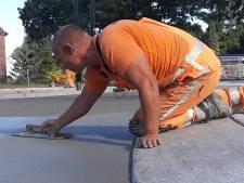 En nu uitharden maar: 100 kuub beton gestort voor veelbesproken rotonde Heesch