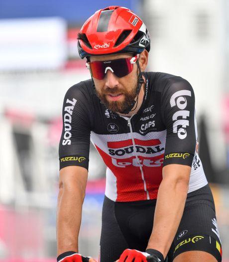 Tour d'Italie: Thomas De Gendt, touché au genou, abandonne