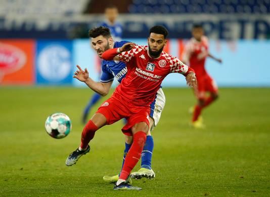 Jeremiah St. Juste afgelopen vrijdag tijdens Schalke - Mainz (0-0).
