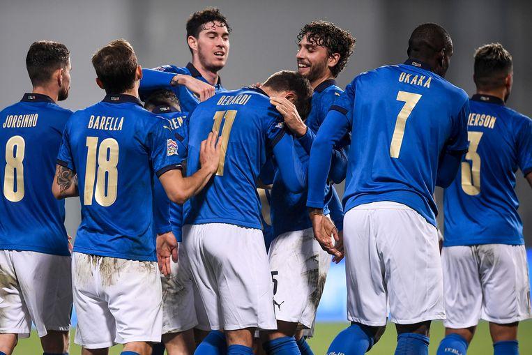 Spelers van het Italiaanse elftal Beeld AP