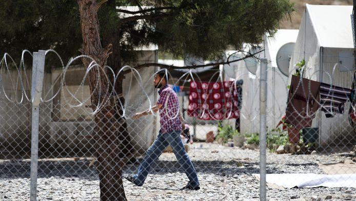Archiefbeeld: Een Syrische vluchteling in een Turk vluchtelingenkamp