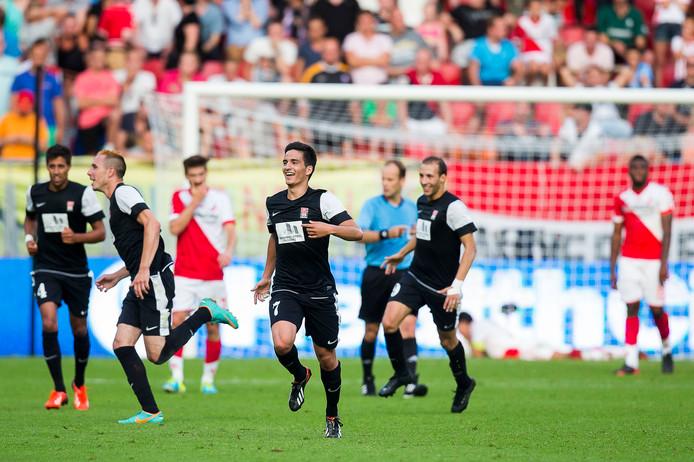 2013: Teleurstelling en ongeloof bij de spelers van FC Utrecht na de uitschakeling in de voorronde van de Europa League tegen het Luxemburgse FC Differdange.