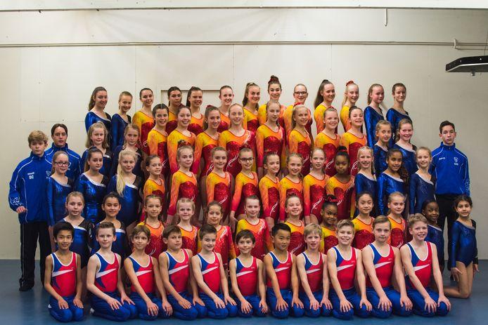De huidige talenten van turn- en gymnastiekvereniging Kunst en Kracht uit Tilburg