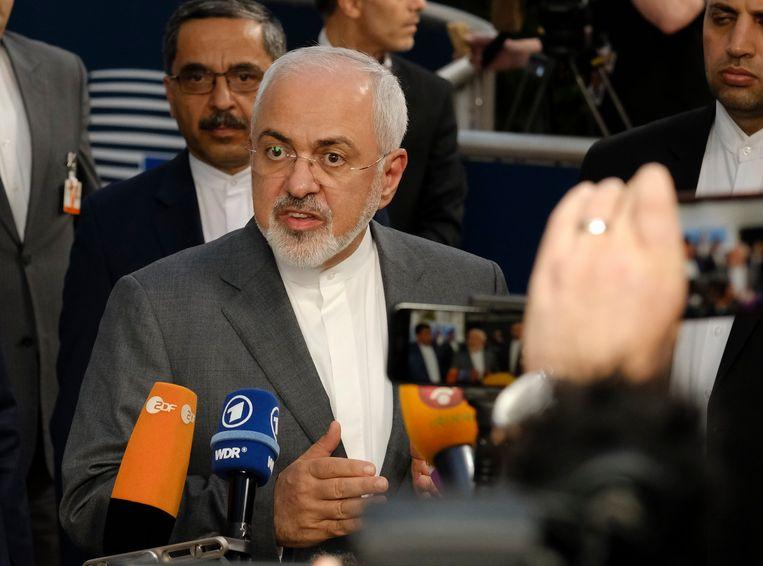 De Iraanse minister van Buitenlandse Zaken Mohammad Javad Zarif  (archiefbeeld). Beeld EPA