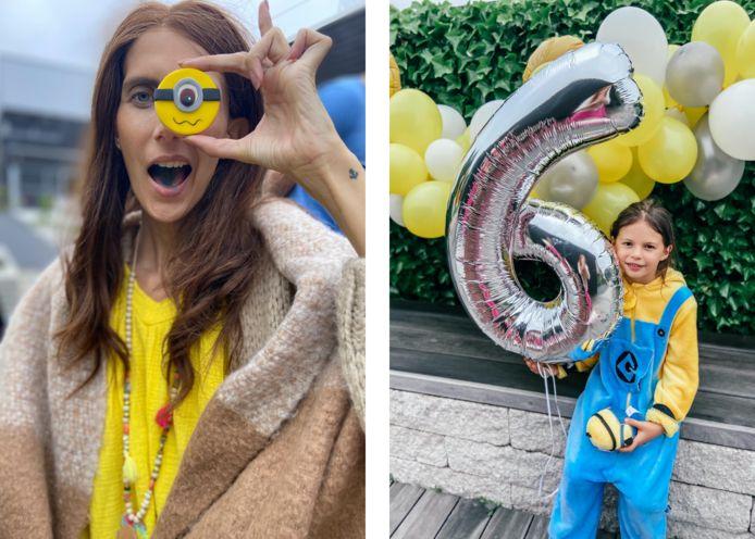 Lara organiseerde een Minion-feestje voor haar dochter Philippa.